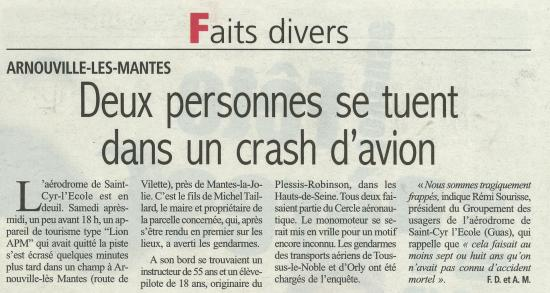 Crash avion 12 juin 2013